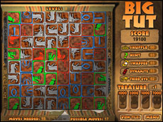 Here's your chance to explore Big Tut's Tomb! Advance using your wits to complete ancient hieroglyphics before the timer runs out. Use dynamite and other tricks to get of jams and uncover Tut's treasures. But watch out for Big Tut's ghost – he wants his treasure back!